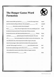 the hunger games word formation worksheet free esl printable worksheets made by teachers
