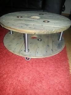 table basse bobine bois table basse faite a partir de 2 plateaux de touret bois