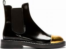 marni black leather gold toe chelsea boots in black lyst