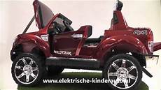 kinderauto ford ranger rood rubberen banden