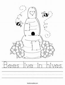 bees live in hives worksheet twisty noodle