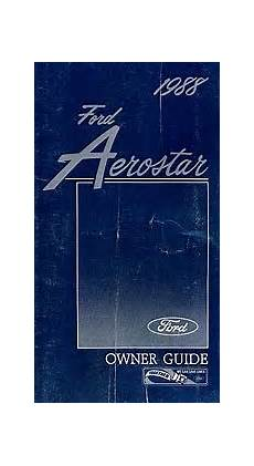 manual repair free 1988 pontiac firefly user handbook 1988 ford aerostar owner s manual am0041