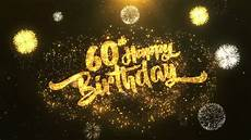 golden sparkling birthday fireworks card birthday 60th happy birthday greeting card stock footage 100