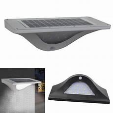 solar power 16 led wall light pir motion sensor outdoor
