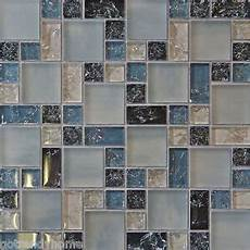 sle blue crackle glass mosaic tile kitchen backsplash