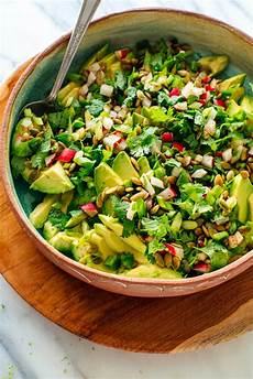 fresh herbed avocado salad recipe cookie and kate