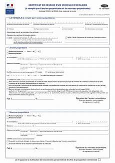 formulaire certificat de cession d 233 claration de cession ou aussi appel 233 formulaire cerfa