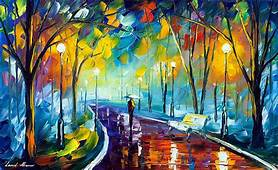 MISTY MOOD 3 — PALETTE KNIFE Oil Painting On Canvas By