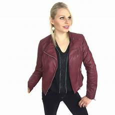 veste femme simili cuir bordeaux coupe perfecto