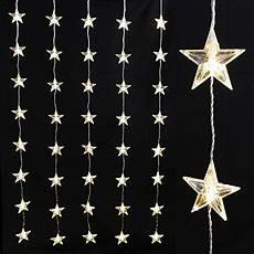 Lichterkette 40 Sterne Led Warmwei 223 Beleuchtet Fenster