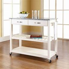 kitchen islands and carts furniture solid granite top kitchen cart island with optional stool