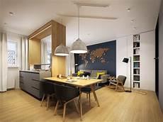 Modern Scandinavian Apartment Interior Design With Gray