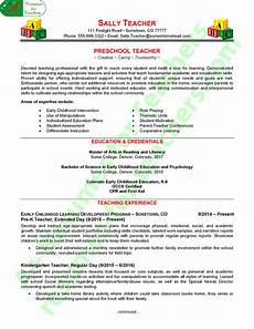 preschool teacher resume sle a resumes for teachers