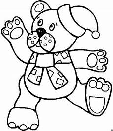 teddybaer muetze ausmalbild malvorlage kinder