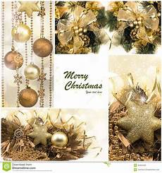 christmas winter holiday gifts festive golden collage stock image image 45354435