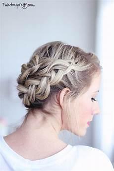 crown braid tutorial twist me pretty