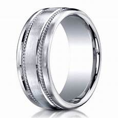 designer men s wedding ring in 950 platinum with rope