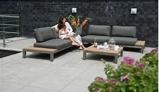 lounge möbel metall fidji table basse de jardin lounge en teck et aluminium