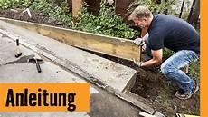 streifenfundament bauen hornbach meisterschmiede