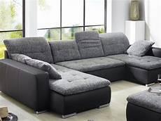 sofa mit hocker wohnlandschaft mit hocker ferun 365x220 185cm anthrazit