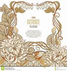fiori liberty manifesto fondo con spazio per testo e fiori decorativi