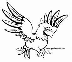 Mewarnai Burung Elang Kartun Contoh Gambar Mewarnai