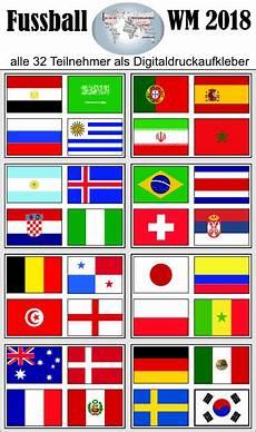 Flaggen Wm 2018 - sticker store24 alle flaggen der wm teilnehmer 2018