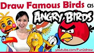 Artist Draw Movie  Game Birds As ANGRY BIRDS Drawing