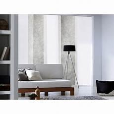 panneau japonais blanc h 250 x l 50 cm panneau