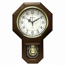 Pendulum Westminster Chime Faux Wood Office Home Wall