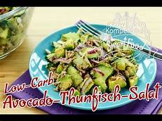 Thunfischsalat Low Carb - avocado thunfisch salat low carb rezept