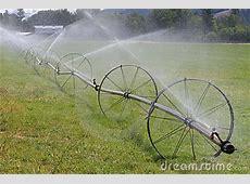 Wheel Line Irrigation System Stock Image   Image: 19201441