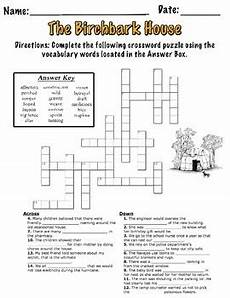 birchbark house lesson plans the birchbark house vocabulary crossword puzzle by elsie s