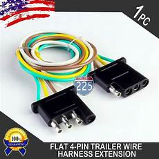 flat wire harness pin 1ft trailer light wiring harness extension 4 pin 18 awg flat wire connector ebay