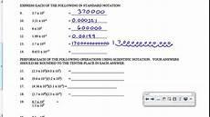 science notation worksheet 12320 scientific notation worksheet key