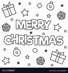 merry christmas coloring page royalty free vector image