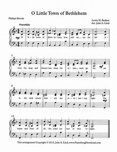 o little town of bethlehem free intermediate piano christmas sheet music