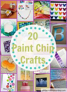 20 paint chip crafts a little craft in your day