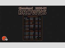 nfl browns schedule 2020