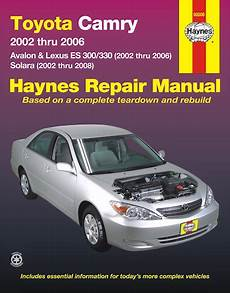 motor repair manual 2006 toyota avalon regenerative braking camry avalon solara es300 es330 repair manual 2002 2008 haynes