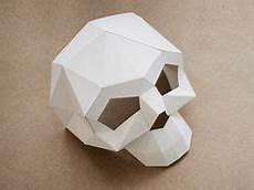 diy anleitung totenkopfmaske aus papier machen via