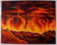 fire acrylic paintings