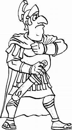 gepanzerter roemischer soldat ausmalbild malvorlage comics