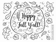 happy fall ya ll coloring page favecrafts