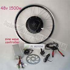 bicycle conversion kit include hub motor 1500w 48v brushless dc motor bldc sine wave controller
