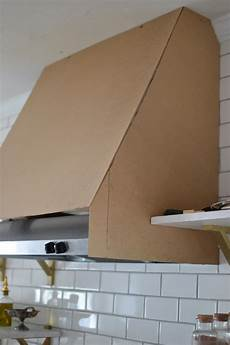 diy range cover kitchen vent with shelving