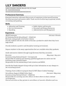 st tammany parish school board jrotc instructor resume sle mandeville louisiana resumehelp