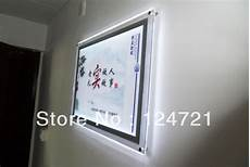 aliexpress com buy wall mounted acrylic backlit frame led lightbox display crystal a2 size