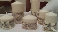come decorare candele candele decorate con pizzo creare con
