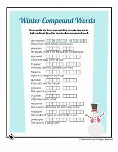 winter words worksheets 20121 winter compound words vocabulary word scramble worksheet woo jr activities